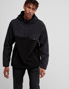 Куртка с молнией 1/4 HUF Muir - Черный