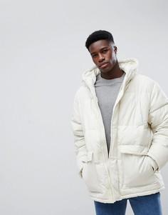 Серовато-белая дутая куртка Weekday Jared - Бежевый