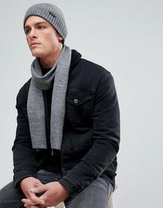 Комплект с шарфиком и шапкой Ben Sherman - Серый