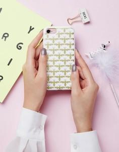 Чехол для Iphone 7 с принтом пчелы Signature - Золотой