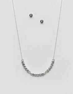 Подарочный набор с ожерельем и серьгами Johnny Loves Rosie - Серебряный