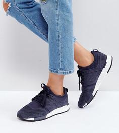 Темно-синие кроссовки из премиум-нубука New Balance 247 - Темно-синий