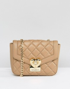 Стеганая сумка через плечо Love Moschino - Бежевый