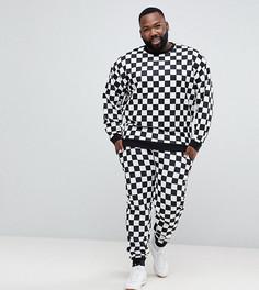 Спортивный костюм в клетку ASOS PLUS - Черный