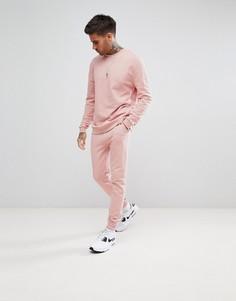 Розовый спортивный костюм со свитшотом и джоггерами скинни ASOS - Розовый