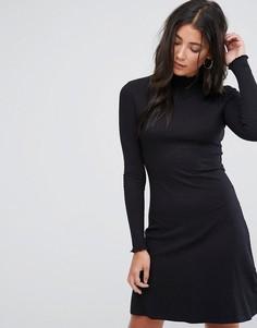 Трикотажное платье с высоким воротом Brave Soul Julie - Черный