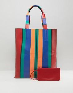 Большая сумка в полоску ASOS - Мульти