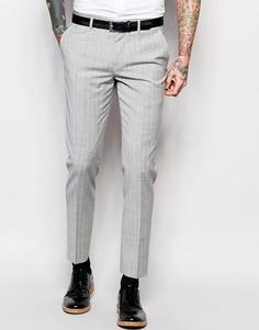 Серые зауженные брюки в полоску River Island - Серый