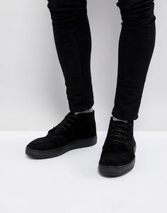 Черные замшевые ботинки со шнуровкой ASOS - Рыжий