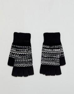Черные перчатки без пальцев с традиционным узором Фэйр-Айл ASOS - Черный