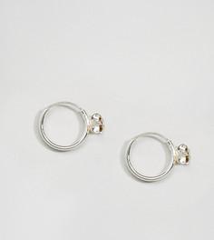 Серебряные серьги-кольца с камнями Kingsley Ryan - Серебряный