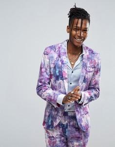 Супероблегающий пиджак с принтом Noose & Monkey - Фиолетовый