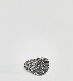 Серебристое кольцо-печатка Reclaimed Vintage эксклюзивно для ASOS - Серебряный