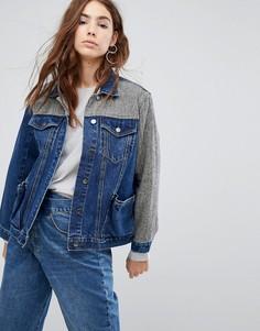 Длинная джинсовая куртка EVIDNT - Синий