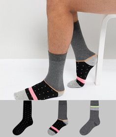3 пары носков (в полоску/в горошек) ASOS - Мульти