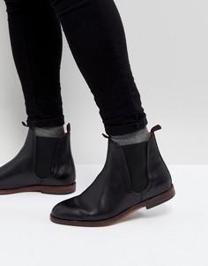 Черные кожаные ботинки челси H London Tamper - Черный