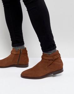 Светло-коричневые замшевые ботинки челси H London Cutler - Рыжий