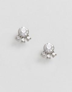 Маленькие серьги-гвоздики с камнями ASOS - Серебряный