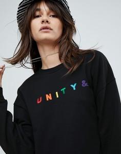 Оверсайз-свитшот с вышивкой ASOS X GLAAD - Черный