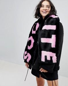 Розовый шарф из искусственного меха Skinnydip - Розовый