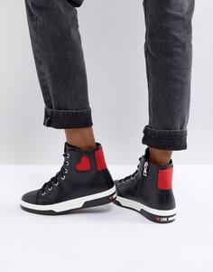 Высокие кроссовки Love Moschino - Черный
