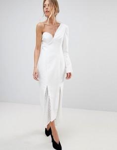 Платье на одно плечо C/Meo Collective Aspire - Белый