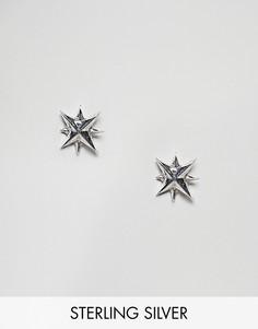 Серебряные серьги Fashionology - Золотой
