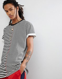 Oversize-футболка в полоску Night Addict - Белый