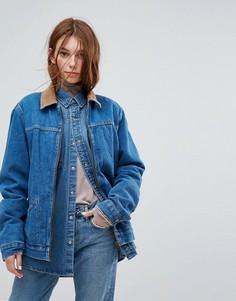Джинсовая куртка с вельветовым воротником Wrangler Stranger Things - Синий