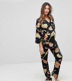 Пижама с цветочным принтом ASOS Maternity TALL - Черный