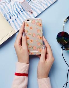 Чехол для iPhone 6 с принтом персиков Signature - Розовый