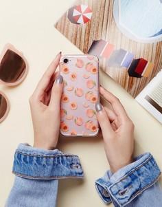 Чехол для iPhone 7 с принтом персиков Signature - Розовый