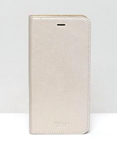 Чехол для iPhone 6/6 Plus с магнитной застежкой Knomo - Золотой