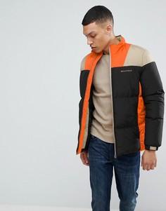 Дутая куртка в стиле колор блок Bellfield - Черный