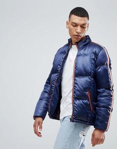 Дутая куртка с отделкой лентой на рукавах Bellfield - Темно-синий