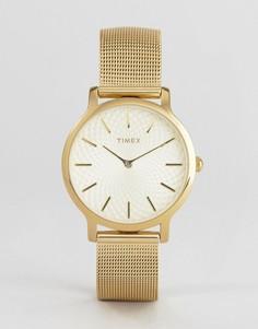 Часы Timex TW2R36100 Skyline - 34 мм - Золотой