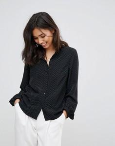 Блузка в горошек Vero Moda - Черный