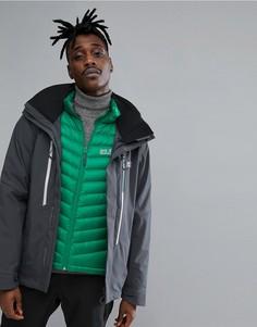 Черная горнолыжная куртка 3 в 1 Jack Wolfskin Exolight - Черный