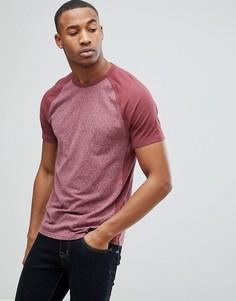 Бордовая футболка с круглым вырезом Abercrombie & Fitch - Красный
