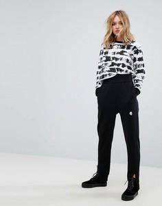 Зауженные брюки с логотипом Cheap Monday - Черный