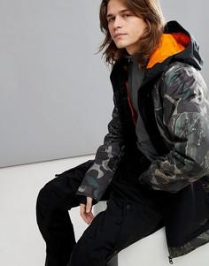 Зимняя куртка с камуфляжным принтом Billabong Fuze - Зеленый