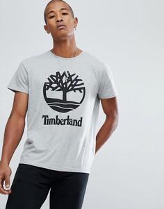 Серая меланжевая футболка Timberland - Серый