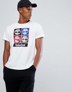 Белая футболка с принтом Timberland - Белый