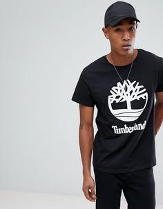 Черная футболка с логотипом Timberland - Черный