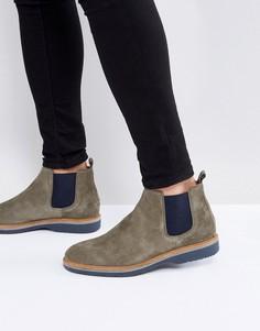 Зеленые замшевые ботинки челси Tommy Hilfiger Jacob - Зеленый