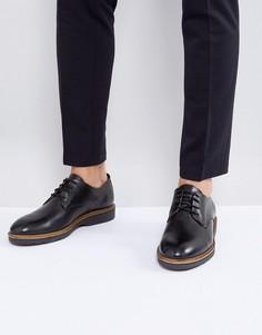 Черные кожаные дерби Tommy Hilfiger Jacob - Черный