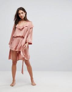 Пижамные шорты в золотистый горошек Y.A.S - Розовый