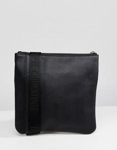 Черная сумка для авиапутешествий с логотипом Emporio Armani - Черный