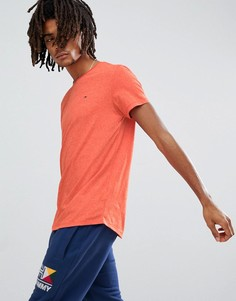 Оранжевая меланжевая футболка с логотипом-флагом Tommy Jeans - Оранжевый Hilfiger Denim