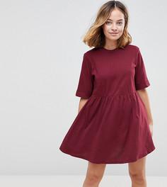 Свободное хлопковое платье мини ASOS PETITE - Красный